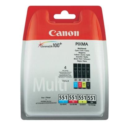 Tusze oryginalne CLI-551 CMYK do Canon (6509B008) (czteropak)