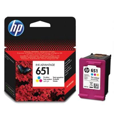 Tusz oryginalny 651 do HP (C2P11AE) (Kolorowy)