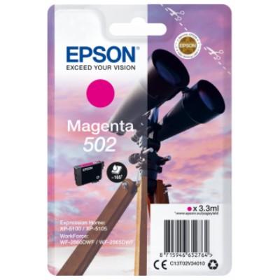 Tusz oryginalny 502 do Epson (C13T02V34010) (Purpurowy)