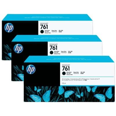 Tusze oryginalne 761 do HP (CR275A) (Czarny matowy) (trójpak)