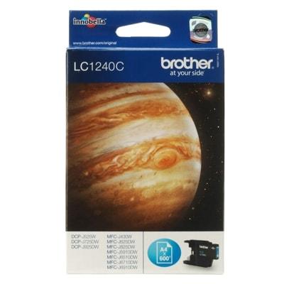 Tusz oryginalny LC-1240 C do Brother (LC1240C) (Błękitny)