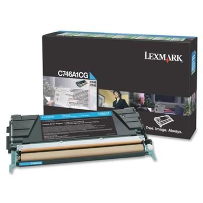 Toner oryginalny C746A1CG do Lexmark (C746A1CG) (Błękitny)