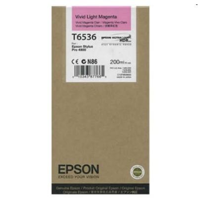 Tusz oryginalny T6536 do Epson (C13T653600) (Jasny purpurowy)