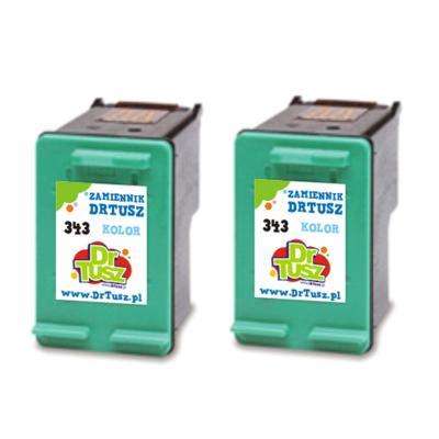 Tusze zamienniki 343 do HP (CB332EE) (Kolorowy) (dwupak)