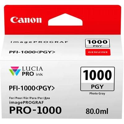 Tusz oryginalny PFI-1000PGY do Canon (0553C001) (Szary Foto)