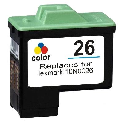 Tusz zamiennik 26 do Lexmark (10N0026E) (Kolorowy)