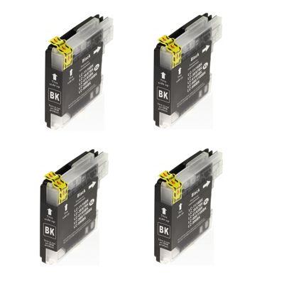 4x Tusz zamiennik LC-1100 BK do Brother (LC1100BK) (Czarny)
