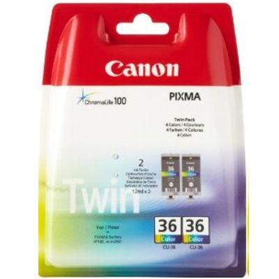 Tusze oryginalne CLI-36 do Canon (1511B018) (Kolorowy) (dwupak)