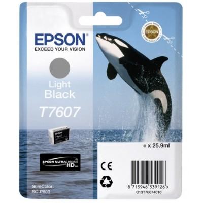 Tusz oryginalny T7607 do Epson (C13T76074010) (Jasny czarny)