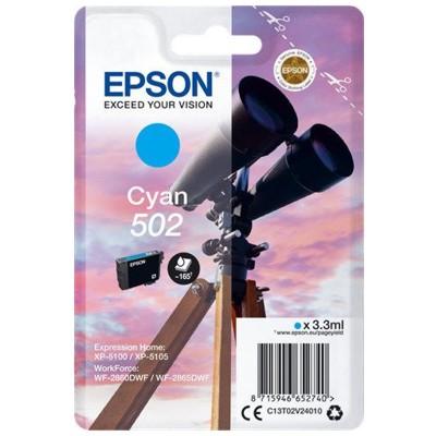 Tusz oryginalny 502 do Epson (C13T02V24010) (Błękitny)