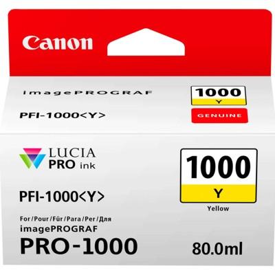 Tusz oryginalny PFI-1000Y do Canon (0549C001) (Żółty)