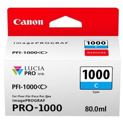 Tusz oryginalny PFI-1000C do Canon (0547C001) (Błękitny)