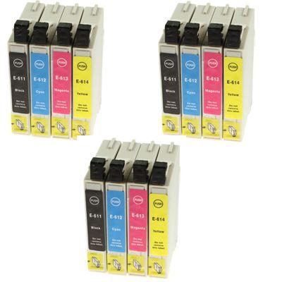 3x Tusze zamienniki T0615 do Epson (C13T06154010) (komplet)