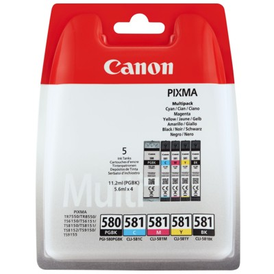 Tusze oryginalne PGI-580/CLI-581  CMYK do Canon (2078C005) (komplet)