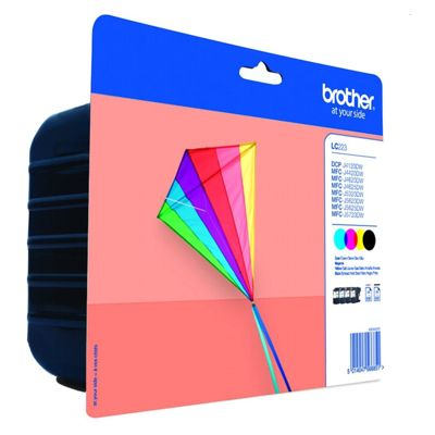 Tusze oryginalne LC-223 CMYK do Brother (LC223CMYK) (komplet)