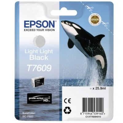 Tusz oryginalny T7609 do Epson (C13T76094010) (Jasny jasny czarny)