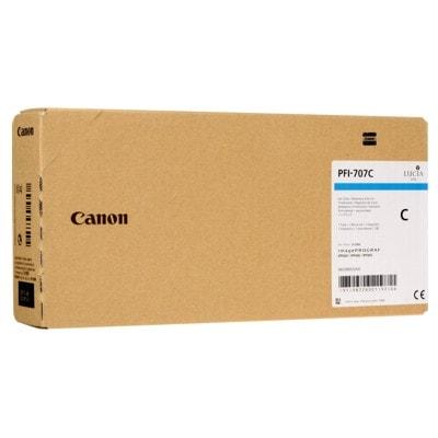 Tusz oryginalny PFI-707C do Canon (9822B001) (Błękitny)