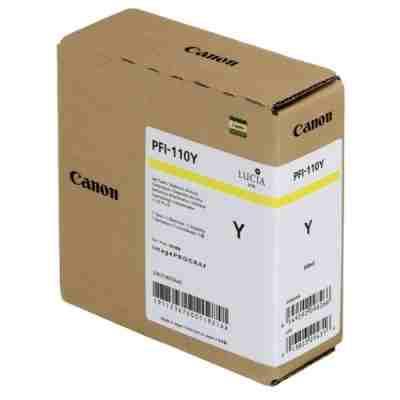 Tusz oryginalny PFI-110Y do Canon (2367C001) (Żółty)