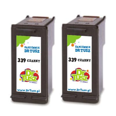 Tusze zamienniki 339 do HP (C9504EE) (Czarny) (dwupak)