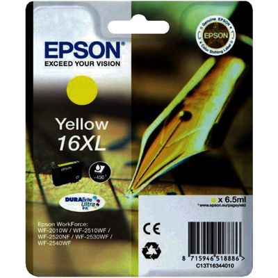 Tusz oryginalny T1634 do Epson (C13T16344010) (Żółty)