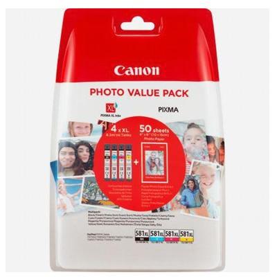 Tusze oryginalne CLI-581 XL CMYK do Canon (2052C004) (czteropak)
