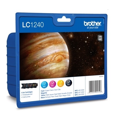 Tusze oryginalne LC-1240 CMYK do Brother (LC1240VALBP) (komplet)