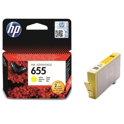 Tusz oryginalny 655 do HP (CZ112AE) (Żółty)