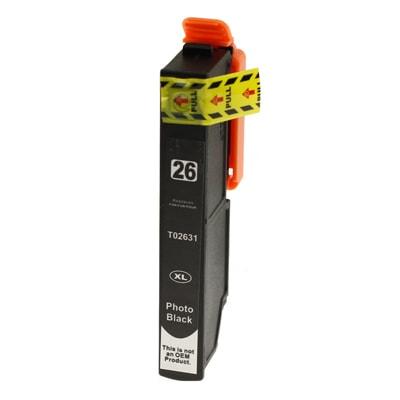 Tusz zamiennik T2631 do Epson (C13T26314010) (Czarny Foto)