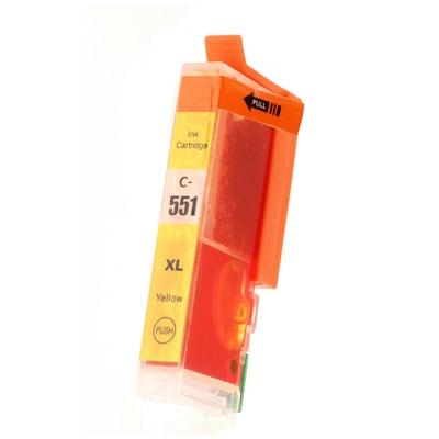 Tusz zamiennik CLI-551 Y XL do Canon (6446B001) (Żółty)