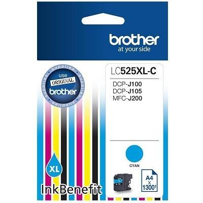 Tusz oryginalny LC-525 XL C do Brother (LC525XLC) (Błękitny)