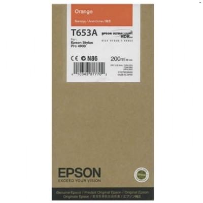 Tusz oryginalny T653A do Epson (C13T653A00) (Pomarańczowy)