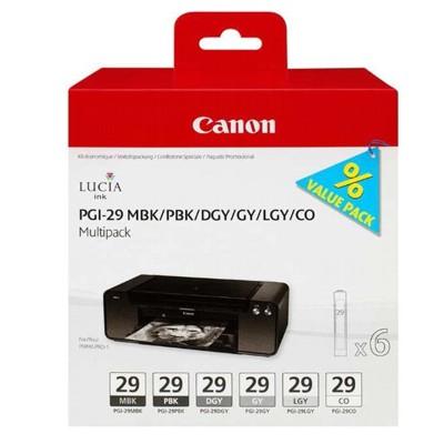 Tusz oryginalny PGI-29 (MBK,PBK,DGY,GY,LGY,CO) do Canon (4868B018)