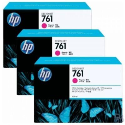 Tusze oryginalne 761 do HP (CR271A) (Purpurowy) (trójpak)