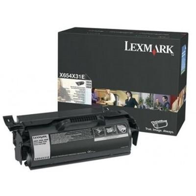 Toner oryginalny X654 do Lexmark (X654X31E) (Czarny)
