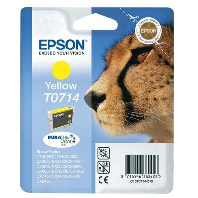 Tusz oryginalny T0714 do Epson (C13T07144010) (Żółty)