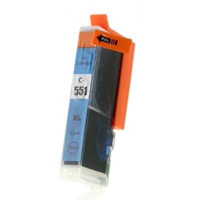 Tusz zamiennik CLI-551 C XL do Canon (6444B001) (Błękitny)