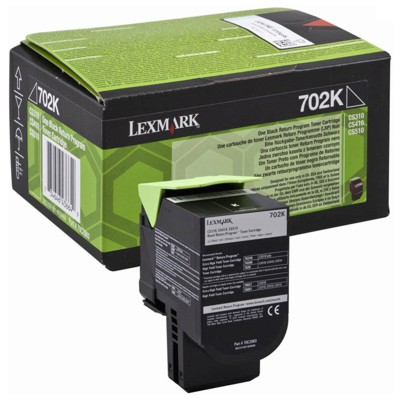 Toner oryginalny 702K do Lexmark (70C20K0) (Czarny)