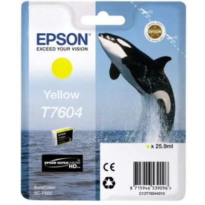 Tusz oryginalny T7604 do Epson (C13T76044010) (Żółty)