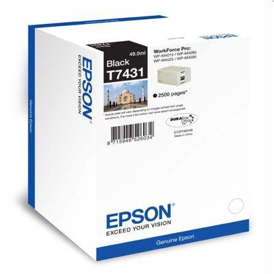 Tusz oryginalny T7431 do Epson (C13T74314010) (Czarny)