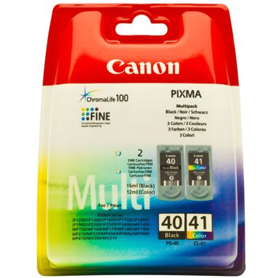 Tusze oryginalne PG-40 + CL-41 do Canon (0615B036, 0615B043) (komplet)