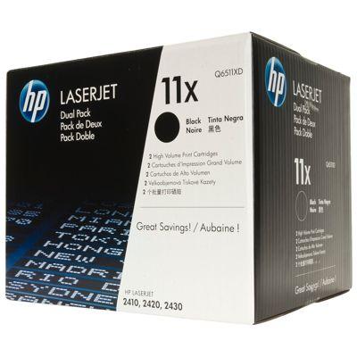 Tonery oryginalne 11X do HP (Q6511XD) (Czarny) (dwupak)