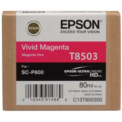 Tusz oryginalny T8503 do Epson (C13T850300) (Purpurowy)