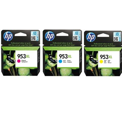 Tusze oryginalne 953 XL CMY do HP (1CC21AE) (trójpak)