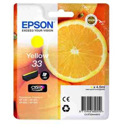Tusz oryginalny T3344 do Epson (C13T33444012) (Żółty)