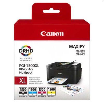 Tusze oryginalne PGI-1500 CMYK do Canon (9182B004) (komplet)