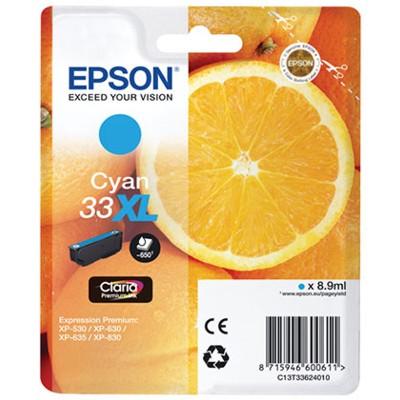 Tusz oryginalny T3362 do Epson (C13T33624010) (Błękitny)