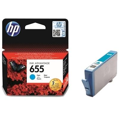 Tusz oryginalny 655 do HP (CZ110AE) (Błękitny)