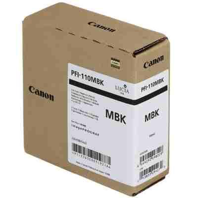 Tusz oryginalny PFI-110MBK do Canon (2363C001) (Czarny matowy)