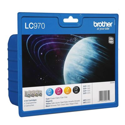 Tusze oryginalne LC-970 CMYK do Brother (LC970VALBP) (komplet)
