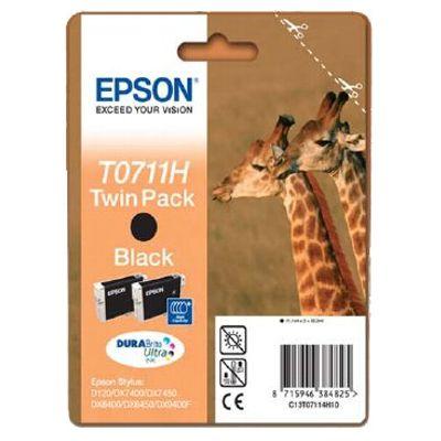 Tusze oryginalne T0711 do Epson (C13T0711H4010) (Czarny) (dwupak)